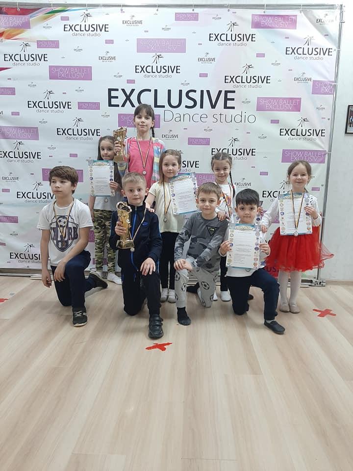 """Scoala de Dansuri """"Exclusive Dance Studio"""" a câstigat primul locul la competiția în Ucraina"""